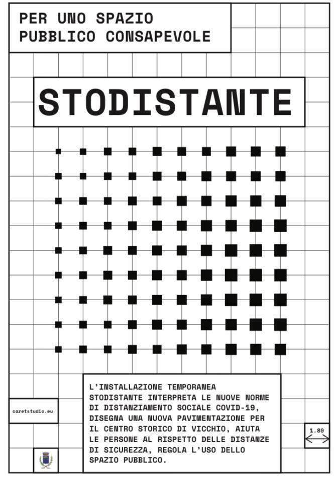 Terminato l'allestimento di #stodistante - Progetto per la sicurezza in Piazza Giotto