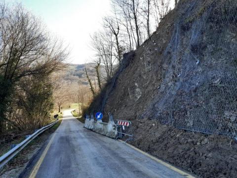 Sp 41, riaperto il tratto in località Boschetta