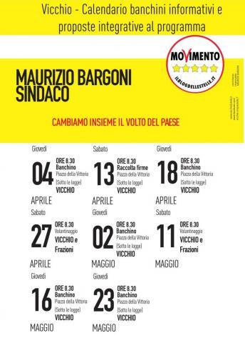Raccolta firme anche per Cinque Stelle Vicchio. Ecco il calendario con gli incontri fino al giorno delle elezioni.