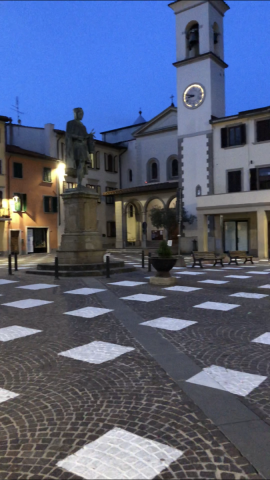 """Alcune domande dei Cinquestelle Vicchio sulla """"scacchiera"""" di Piazza Giotto"""