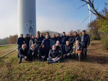 Visita dell'Amministrazione e dei Consiglieri Comunali all'impianto eolico di Rivoli.